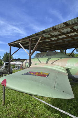 View of a retired MiG-15 military aircraft