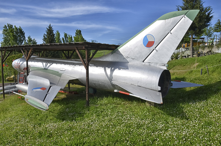 View of a retired Sukhoi Su-7 fighter-bomber Editorial