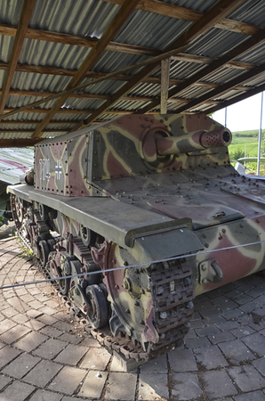 View of a M1542 tank of World War II Editorial