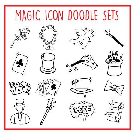 Magic Line Icon Doodle Sets