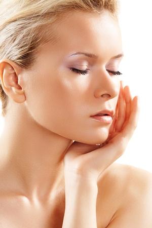 Wellness & spa. Sensual model with clean skin Stock Photo - 11316987