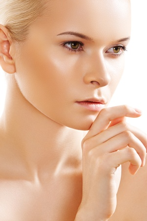 Beauty spa portrait of woman model with natural make-up. Healthy lifestyle  photo