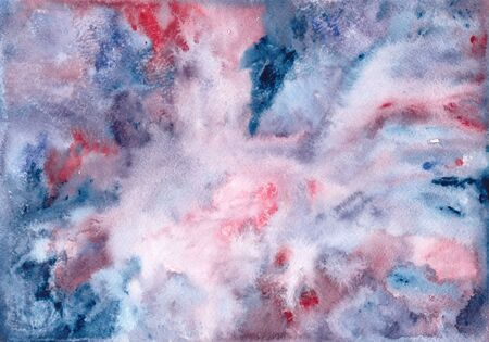 Watercolor stains and splashes. Hand drawing. Watercolor abstract background for banner or other design. Colorful