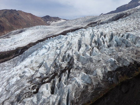 Glaciers on the side of Mount Baker Stock Photo