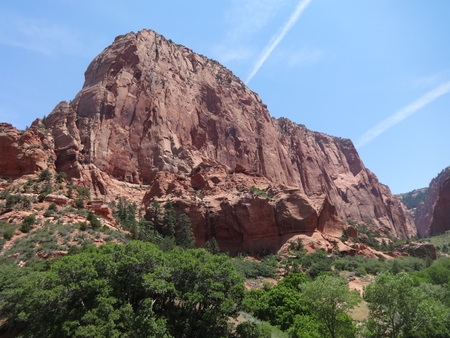 red rock: Red rock cliff at Zion National Park