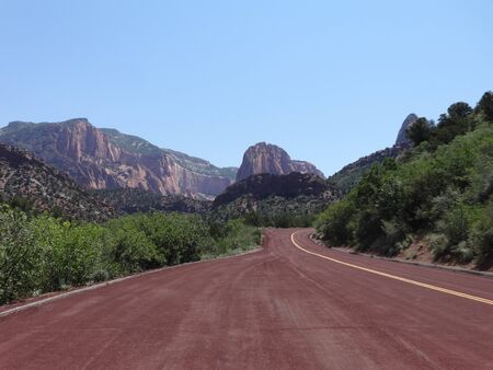 red rock national conservation area: Kolob Canyons , Zion National Park