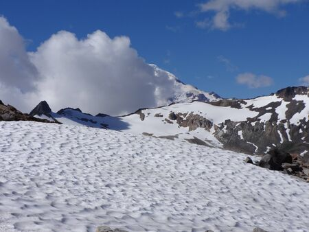 snow fields: Mount Baker and snow fields