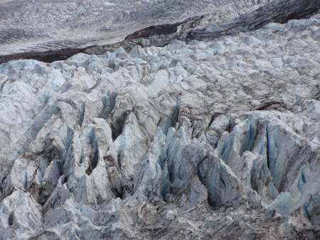 deeply: The deeply crevassed Coleman Glacier