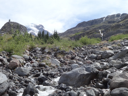 glaciers: Rushing water from melting glaciers