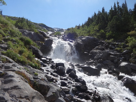 rushing water: Rushing water from melting glaciers