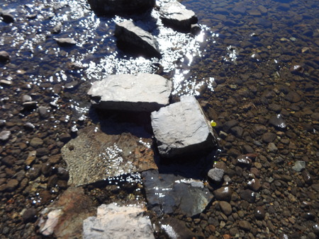 stepping: Stepping stones in a stream Stock Photo