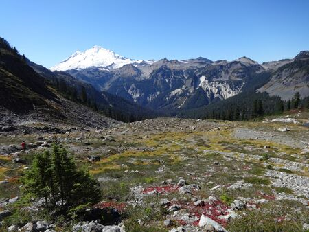 mount baker: The view of Mount Baker from Lake Ann Trail