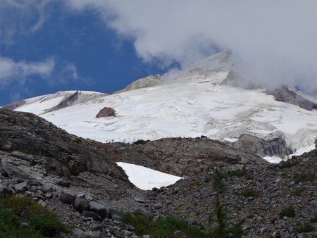 glaciers: Mount Baker South face top and glaciers