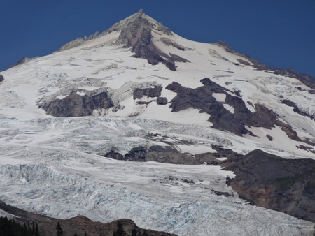 volcano slope: South-East face of Mount Baker Stock Photo