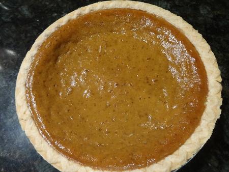 pumpkin pie: A Pumpkin pie