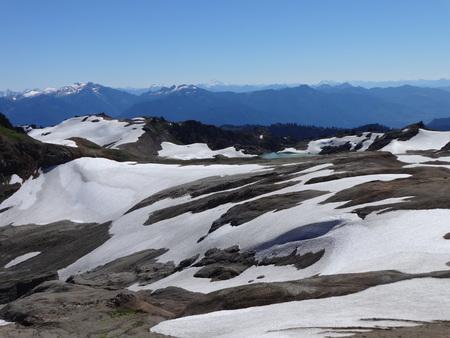 Goat Lake and North Cascades Banco de Imagens