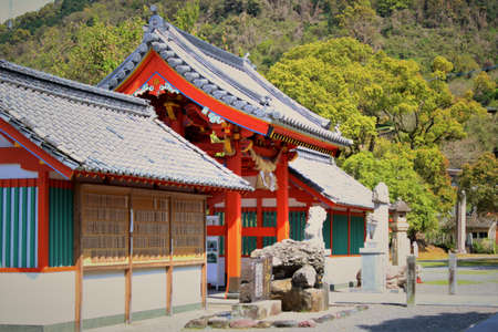 secret place: Japanese shrine gate Stock Photo