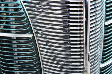 grille: he detail of a classic car grille Stock Photo