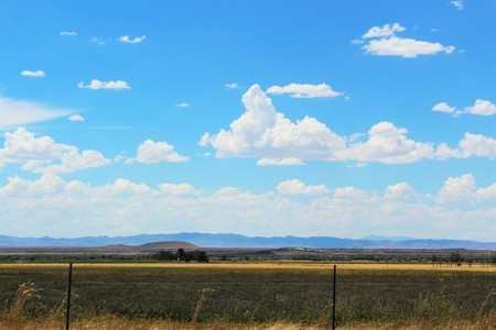 american field service: West of the Rocky Mountains in the summer Stock Photo