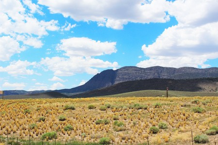 western united states: Desert mountains in the Western United States in the summer Stock Photo