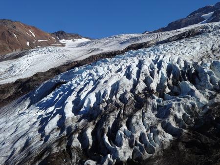 decreased: Decreased receding Colman Glacier in fall of 2017