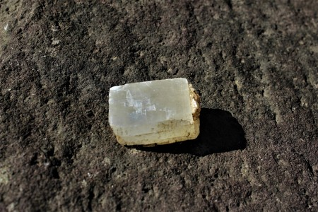 Calcite, raw crystal Stock Photo