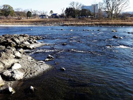 Kuma River flows in the historic town of Hitoyoshi, Kumamoto pref. Japan Stock Photo