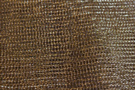 Gold colored mesh fabric