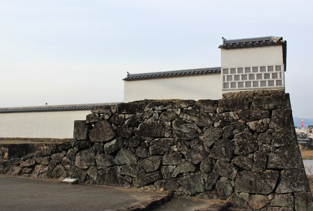 A fortress at the site of Hitoyoshi Castle in Japan Editorial