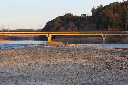 A bridge over the Kuma River near Hitoyoshi Castle in Japan