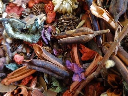 Classic dried plant potpourri background