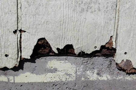 Decaying LP exterior siding Board