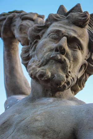 Statua di Poseidone Archivio Fotografico