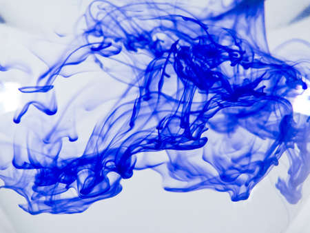 Blue ink cloud texture