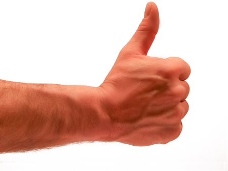 Male thumbs up photo