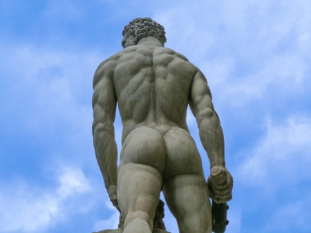 Male statue in Florence