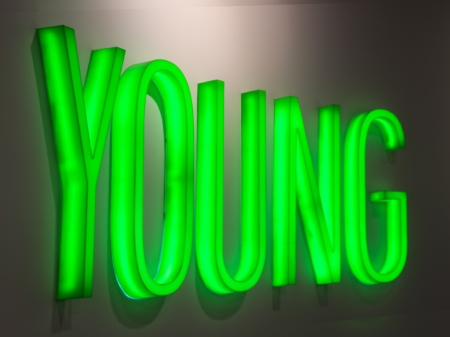 Neon sign Young