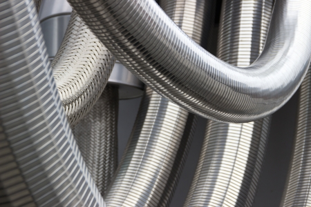 Silver thick metal tubes