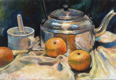 still life acrylic painting Stock Photo - 10369945