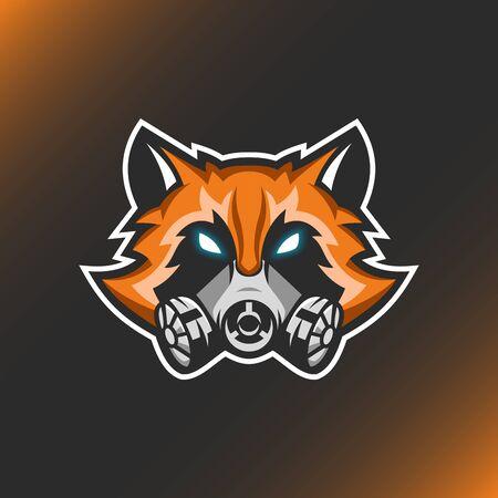 Modern Illustration Vector Fox logo for Template