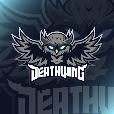 Owl Illustration Mascot Vector for teammate