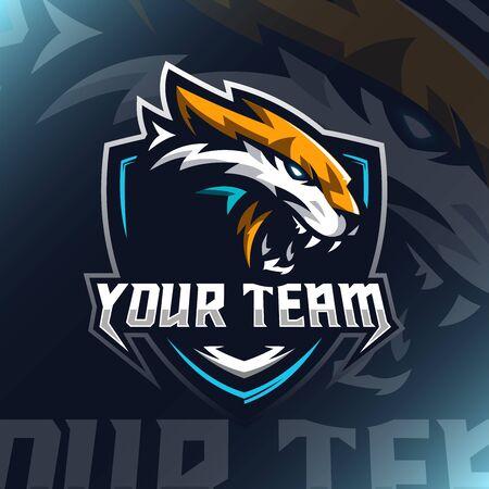 Tiger Head e sport vector illustration for teammate template 向量圖像