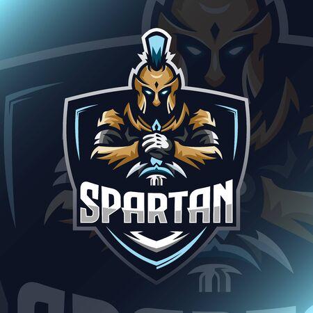 Spartan Warrior E sport 向量圖像