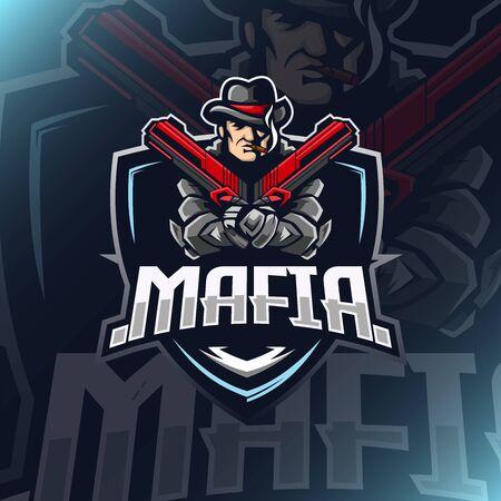 Mafia esport vector illustration for teammate