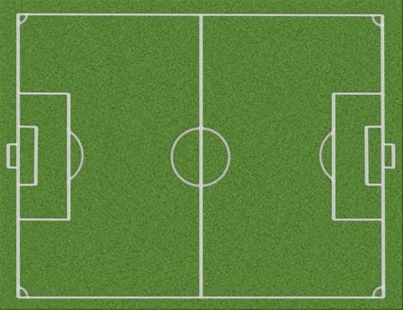 Le terrain de football dessin� avec une marque sur un grassThe de blanche dessin� un terrain de football avec une marque sur une herbe de blanche Banque d'images - 8456646
