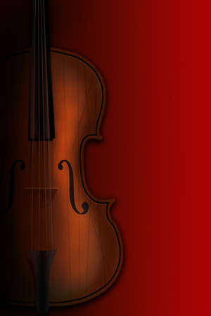 Violin on a red background in a shade photo