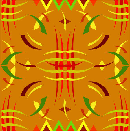 The African ornament, the sample with geometrical figures Vector