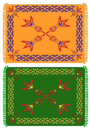 The sample of ornaments of different nations of the world, geometrical figures Vector