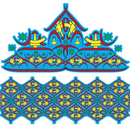 Set of east ornaments, the Asian culture Vector