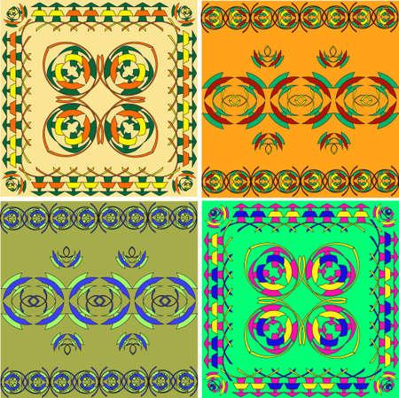 Set of the Arabian ornaments, east culture Stock Vector - 9213104